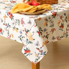 Papillion Tablecloth Collection  TABLECLOTH FOR EXTENDED TABLE