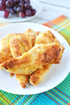 These Bisquick Chicken Fingers are slightly crispy outside and tender inside, This famous recipe is the ulitmate way to bring back yummy childhood memories. Bisquick Fried Chicken, Bisquick Chicken Recipes, Jiffy Recipes, Chicken Finger Recipes, Baked Chicken Tenders, Turkey Recipes, Meat Recipes, Bisquick Apple Cobbler Recipe, Famous Recipe