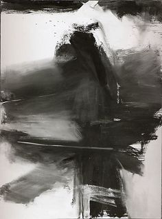 """Black, White, and Gray"", (1955), by Franz Kline (b. 1910, Wilkes-Barre, Pennsylvania - d. 1962, New York City), Oil on Canvas."