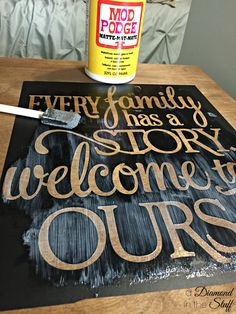 Window Frame Wood Sign | A Diamond in the Stuff. Here is a great tip on how to be sure your paint does not bleed through your stencil!