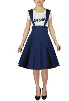 Rockabilly high waist suspender skirtby Amber Middaugh Prototype Auction ends :2/14/2013