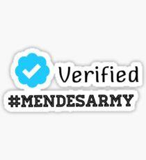 Verified mendes army Sticker