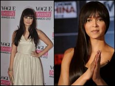 Bangs: Front and centre, long and spiky.We have celebrities like Deepika Padukone and Dia Mirza propagating it.
