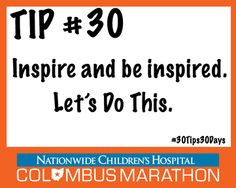 Tip #30: Last Minute Race Day Reminders #30Tips30Days