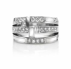 Traffic by Harry Winston, Accent Three Row Ring