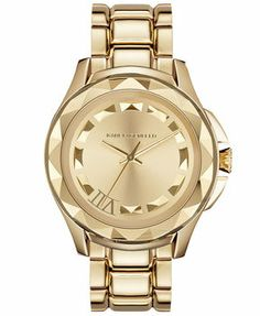 Karl Lagerfeld Unisex 7 Gold Ion-Plated Stainless Steel Bracelet Watch 44mm KL1019 on shopstyle.com