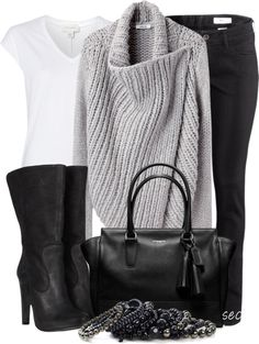 """Shawl Cardigan"" by coombsie24 ❤ liked on Polyvore"