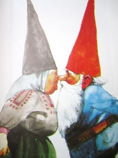 Darling little gnomes story picture book. Go on an adventure with these little gnomes and their woodland friends to save their missing companion taken Norman Rockwell, Illustrations, Illustration Art, David The Gnome, Kobold, Magical Creatures, Faeries, Enchanted, Pop Art