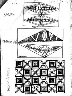 Once we had made the tapa cloth and the koka dye, we had a bit of instruction on Tongan design, then three of us from the group gave a basic bookbinding demo. Next, we were shown some printmaking t… Polynesian Designs, Polynesian Art, Polynesian Culture, Tongan Tattoo, Marquesan Tattoos, Chicano Tattoos, Tribal Patterns, Doodle Patterns, Samoan Patterns