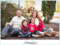 Take Great Pictures Anywhere, Family Christmas Pictures, Fresh Look Photography, family of four, holiday photos, green and red