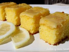 Brownies de limon
