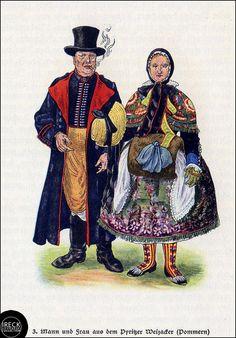 Mann und Frau aus dem Pyritzer Weizacker, Hinterpommern, Pomerania by Ireck Litzbarski Collection, via Flickr #PyritzerWeizacker