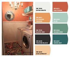 Orange Paint Colors 14 color palettes that work | orange paint colors, paint color