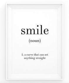 Smile Definition Print - Black and White Quote Print - Word Art - Noun - Minimalist Scandinavian Art - Nordic Wall Art - Instant Download  sc 1 st  Pinterest & Coffee Definition Print - Black and White Quote - Word Art - Noun ...