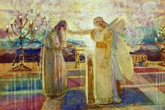 According to the Gospel of Luke, Archangel Gabriel visited a Jewish priest named Zechariah to make a world-changing announcement. Catholic Daily Reflections, Alexander Ivanov, Gospel Of Luke, Daily Gospel, Daily Prayer, Daily Devotional, Lucas 1, Archangel Gabriel, Museum