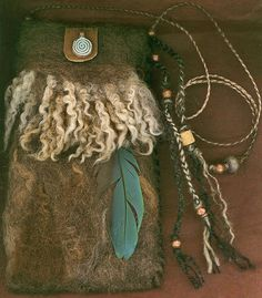 Boudicca  wet  felted bag by ThistleWoolworks on Etsy, $95.00