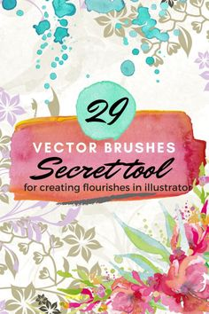 How to Create Floral Swirls and flourishes in illustrator using Floral vector brushes
