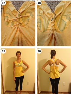 No Sew DIY racerback. Cute as a workout tee!