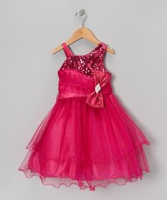 Fuchsia Sequin Bow Dress & Shawl - Toddler & Girls by Chic Baby on #zulily #baby #clothes #clothing #gift #shower #girl #girls #toddler #infant #dress #gown #ball #ballgown #masquerade #party #pageant #holiday #christmas #thanksgiving #dinner #winter #wedding #flower #flowergirl #church #formal #dressup #made #in #USA #madeinUSA #america #picture #family #portrait #card #cards #hotpink #hot #Pink #fuchsia #sequin #bow #tulle #Tutu #lettuce #edge #Hem #bow #sparkle #glitter #layered #skirt