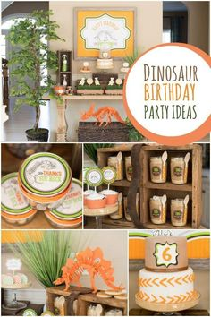 Fantastic ideas for a memorable dinosaur birthday party for a boy.