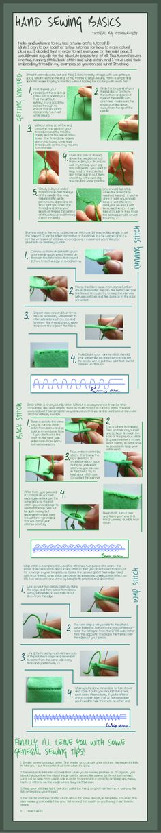 Hand Sewing Basics - Tutorial