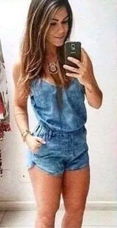 macaquinho jeans feminino com alcinha
