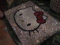 love the bling. Pink Hello Kitty, Hello Kitty Items, Macbook Case, Laptop Case, Hi Gorgeous, 90s Theme, Victoria Secret Perfume, Macbooks, Twilight Movie
