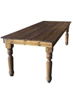 Farm Table – Sonoma 8 Ft. Farmhouse Dining Room Table, Dining Table, Prairie Village, Overland Park, Table Furniture, Event Decor, Kitchen Design, Farm Tables, Coffee Tables