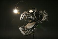 fish sculpture metal - Szukaj w Google