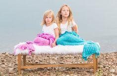 Kids Knit Mermaid Tail Blanket