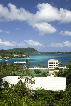 Port Vila and Vila Bay from Lookout Point, Port Vila, Efate Island, Vanuatu