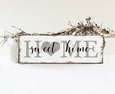 Home Sweet Home Sign, Rustic Home Wall Decor, Handcrafted Wood Sign, Vintage Style Sign by 2ChicksAndABasket on Etsy https://www.etsy.com/listing/502224438/home-sweet-home-sign-rustic-home-wall