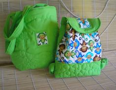 Jungle  Mother and Daughter  Son bag set kid backpack by Crearts, $69.00