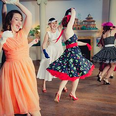 1950s hen party photoshoot by charlestondance, via Flickr. Rock n roll dance classes