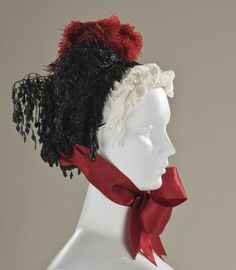 Bonnet Madame Amy 1880s France ""