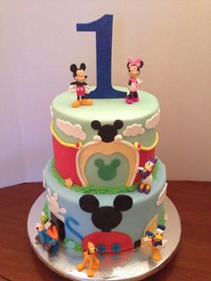 Mickey Mouse club house cake by Gema Sweets.