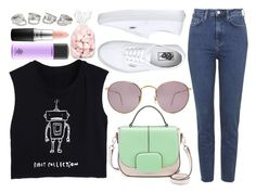 """""""Mr. Robot."""" by cece-cherry ❤ liked on Polyvore featuring Topshop, Ray-Ban, Vans and MAC Cosmetics"""