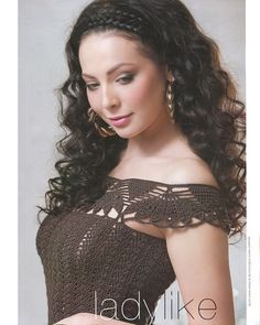 Edivana Croche, I love the edging as sleeve with a simple bodice.