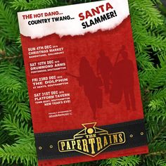 We'll be deckin' them halls THIS SAT (10th Dec: 9pm) at The Drummond Arms, Portswood, ...as we continue our 'Hot Dang, Country Twang, Santa Slammer'!  Proudly sponsored by Absolute Music, Bournemouth: www.absolutemusic.co.uk  #livemusic #music #americana #thepapertrains #christmas #ontour #southampton #banjo #guitar #doublebass