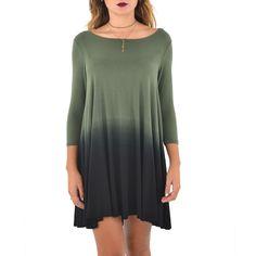 Karen Kane Ombre Maggie Dress in Olive