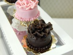 Hand Made Miniature Chocolate Cake with by JansPetitPantry on Etsy