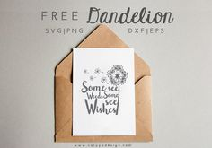 Download Free Dandelion SVG & PNG file for your DIY project. Files compatible with Cricut, Cameo Silhouette Studio and other cutting machines.