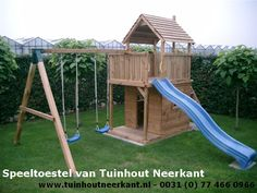 Backyard Playhouse, Backyard Playground, Backyard Patio Designs, Backyard For Kids, Decks And Porches, Garden Structures, Play Houses, Pergola, Projects To Try