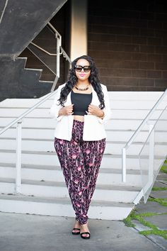 Gabi Fresh in Addition Elle slouchy pants...plus size style, blogger style, plus size fashion #lookswelove