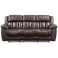 Reagan Leather Motion Sofa Amp Recliner Set Sam S Club