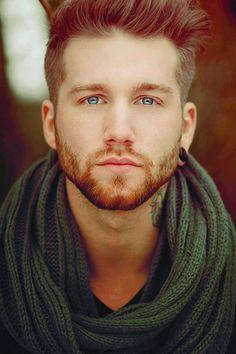 (40) Tumblr man, gorgeous, tattoo, eyes, blue eyes, photography, ear stretcher