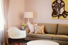Benjamin Moore Wild Aster.  Nice, soft,  neutral pink.  Sofia's room?