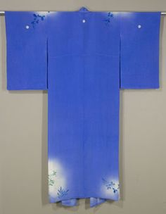 Back of Sheer Japanese Irosode  Mid 1950s  Silk crepe formal hand-painted  kimono