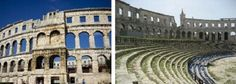 Het Colosseum, grootste amfitheater uit de Romeinse tijd, een alternatief de Pula Arena.