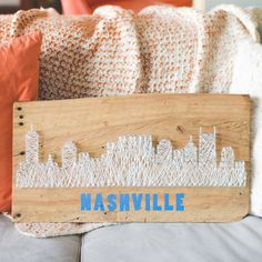 This Nashville Skyline string art sign would make a great addition to your mantle or brighten someones day as a unique gift!    This listing is for